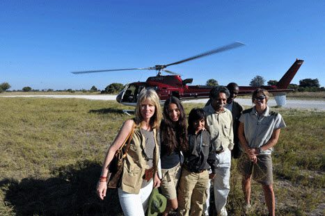 Fresh off a helicopter ride--and the Pinto action film begins!