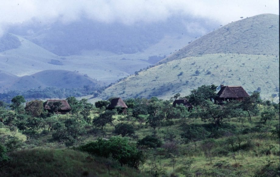 Houses in the middle of nature at Chyulu Hills