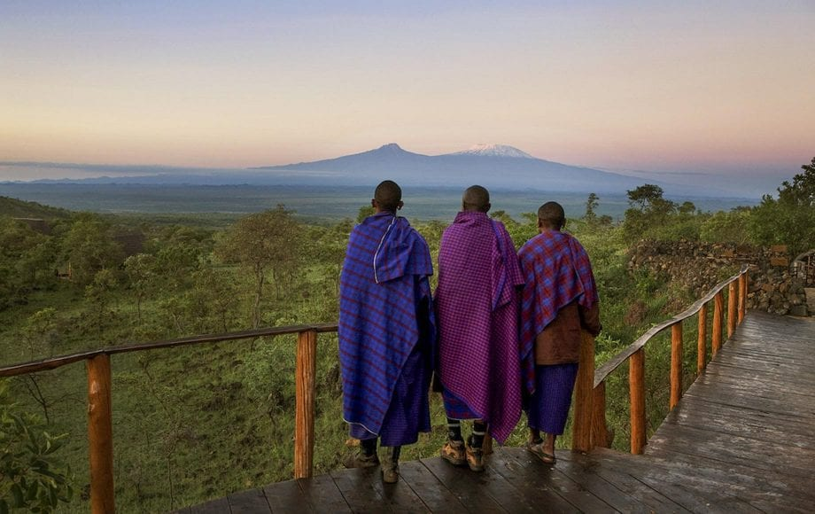 Looking out the peaceful scenery at Chyulu Hills