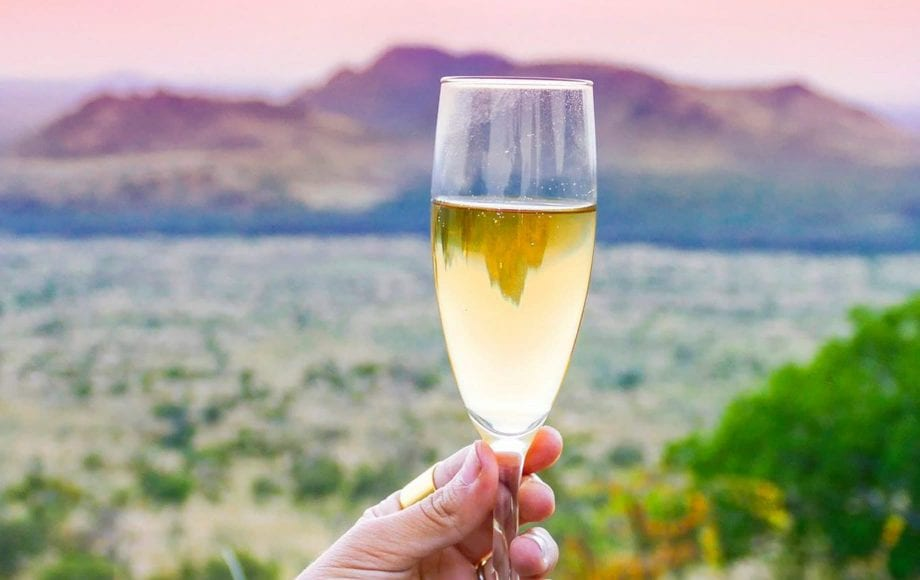 Champaign during the day at Chyulu Hills