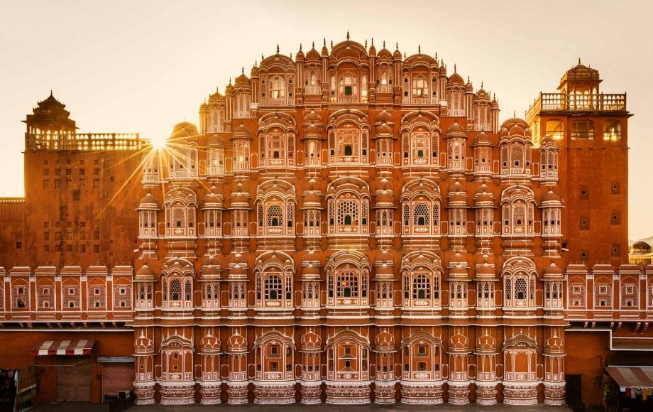 Beautiful Sunset on a Building at Jaipur