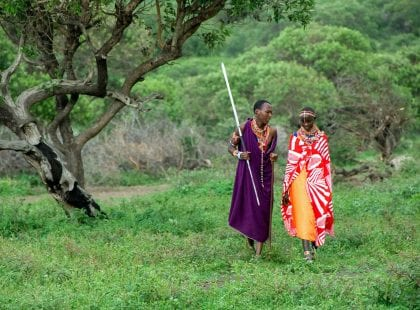 Maasai Walking