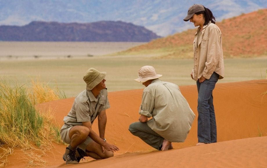 Chatting at the Sossusvlei Namib Desert