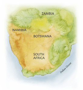 Aouth Africa Map