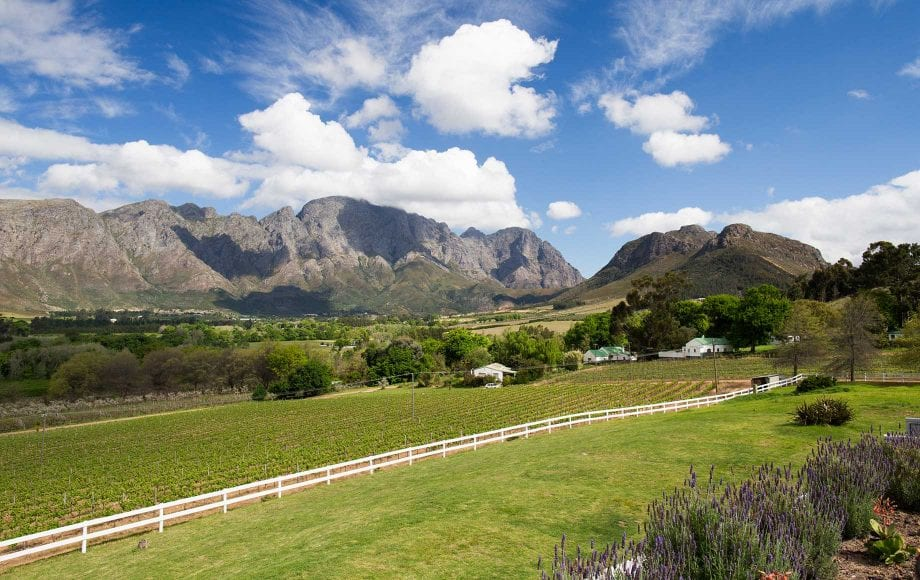 Great scenery under the sunny sky of Cape Winelands