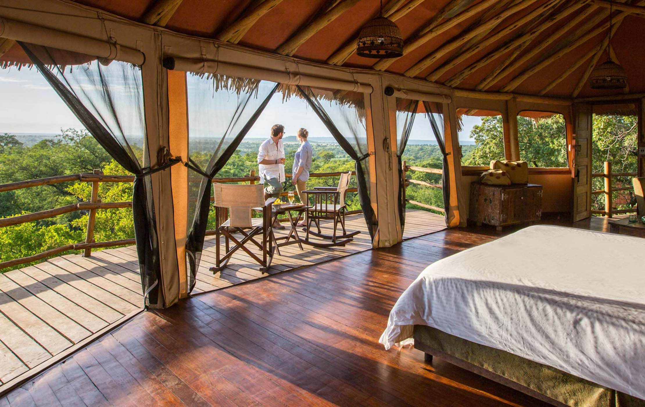 Tarangire Treetops Lodge couple