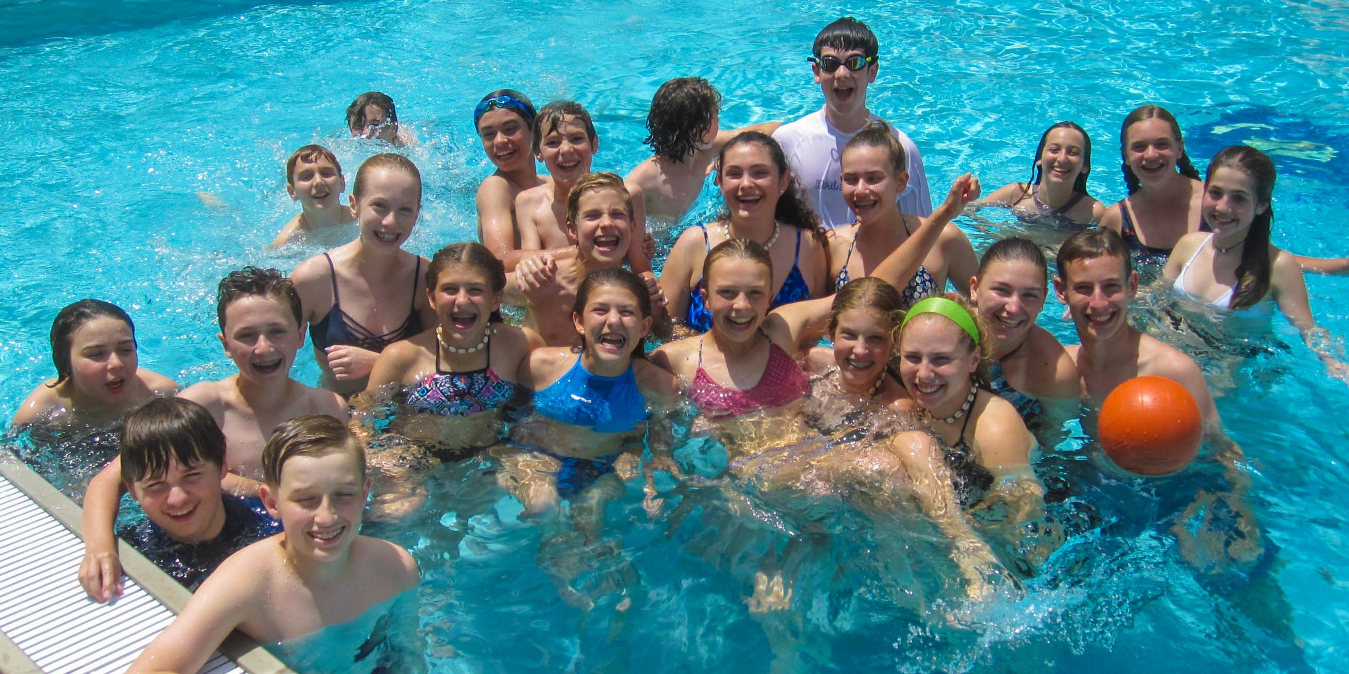 Group of kids in pool